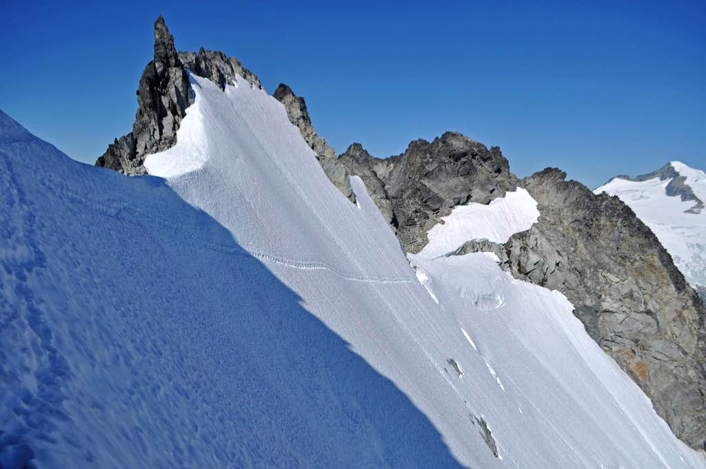 Looking back at the Steep Snow Traverse