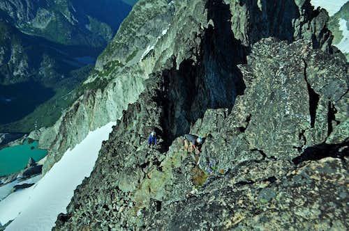 Josh Ascending Torment's Northeast Ridge
