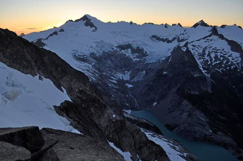 Evening View of the Inspiration Glacier