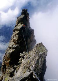 Perego-Mellano route, getting the summit of West pillar