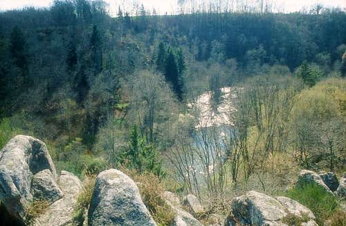 Serein river from the top of...