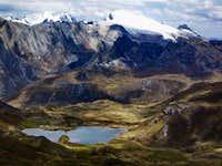 View to Southeast with Laguna Quesillococha and Cordillera Raura