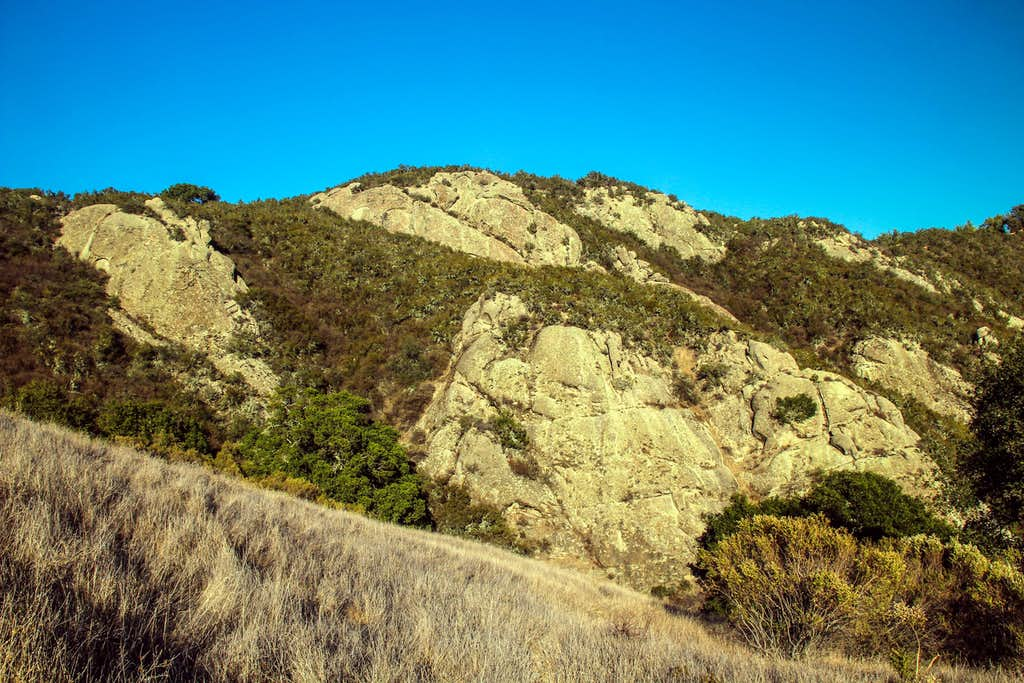 Rock face on Calaveras Ridge