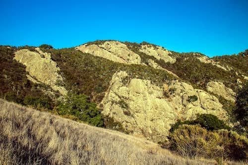 Rock face on Calaveras Ridge