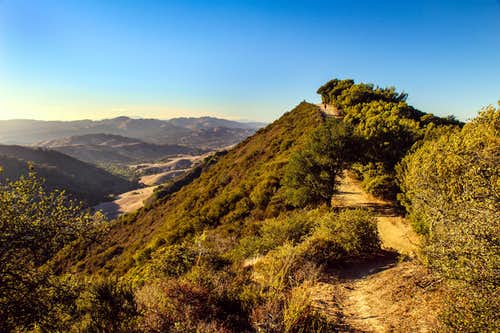 Las Trampas Ridge looking northwest