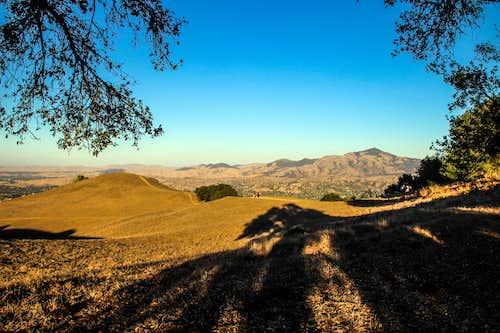 Northeast to Mt. Diablo from Las Trampas Peak
