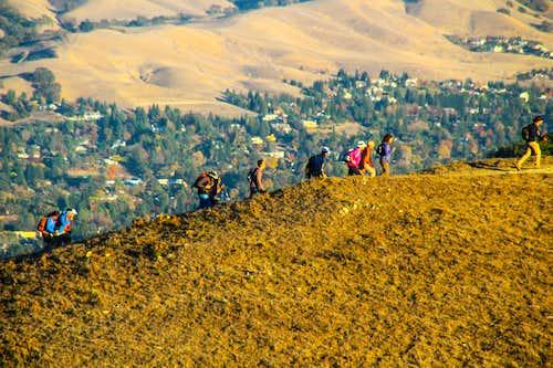 Sierra Club hikers heading to Las Trampas Peak