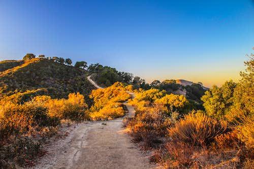 Las Trampas Ridge with Las Trampas Peak left