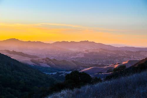 San Pablo Ridge from Las Trampas Ridge