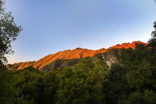 Last light on Las Trampas Ridge