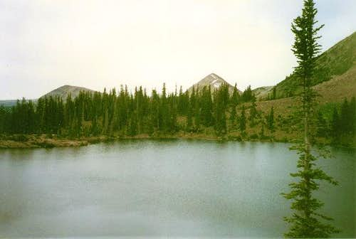 Anchor Lake. Long Mountain is...