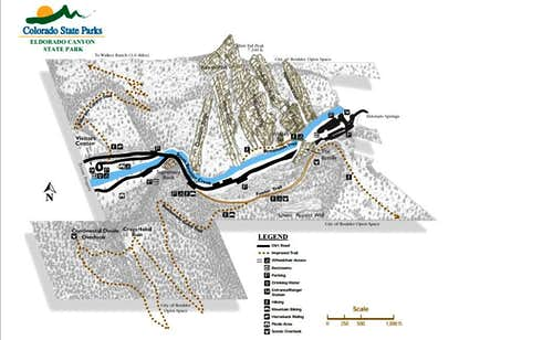 Eldorado Canyon Map