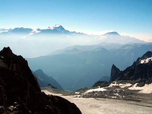 Orny glacier and Grand Combin in the background