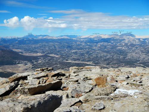 Summits Visible from Olancha