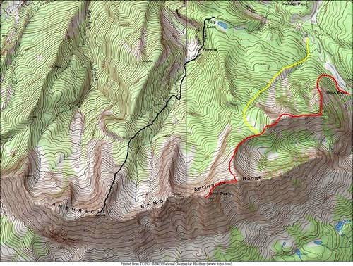 Red-Northeast Ridge Route...