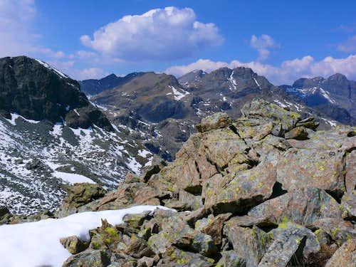 Envers del Lago Gelato near the Summit to Northwest
