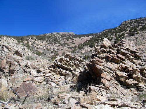 first talus slope