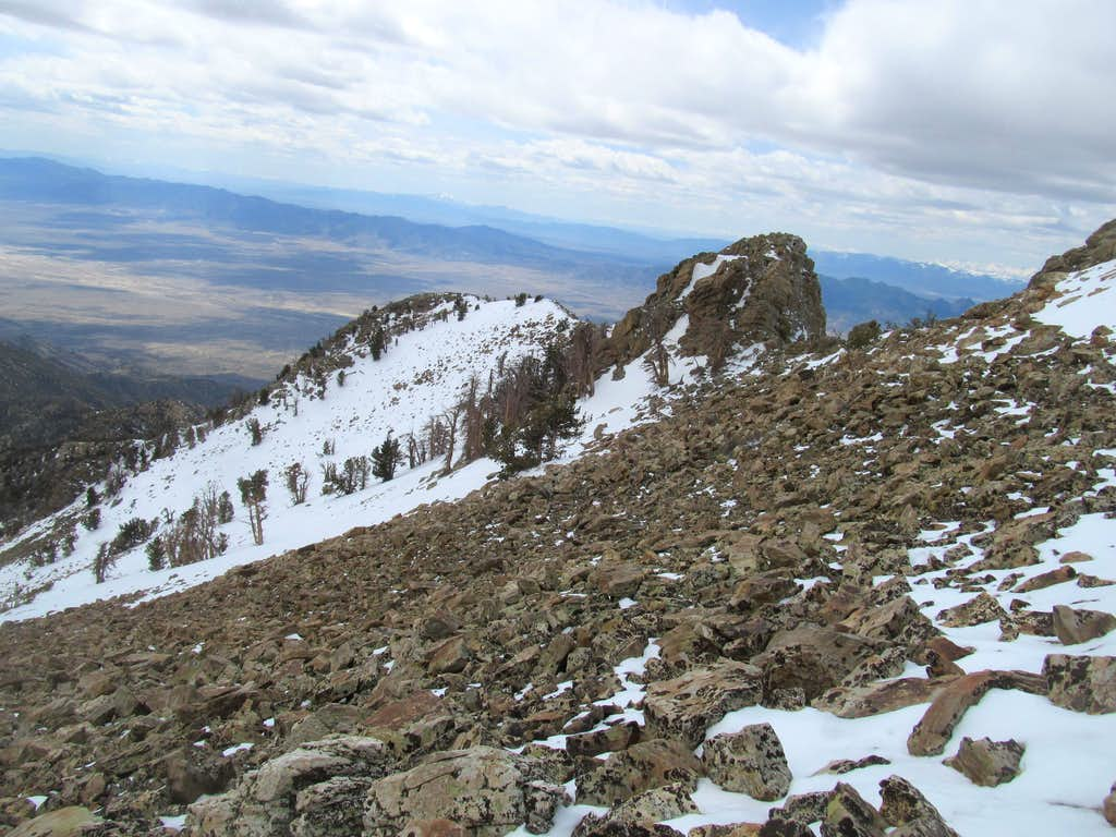 talus and another snow traverse