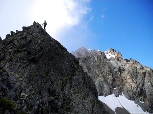 On the summit of Pointe Gaspard