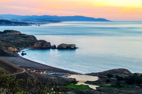 Rodeo Beach at dusk