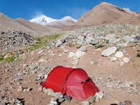 The base camp Guanaquitos with our large, luxury tent