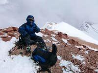 Marion on the summit of Mercedario - 6770 meters high!