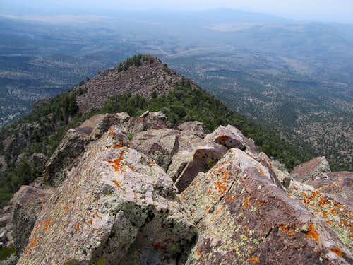 looking back along SE ridge