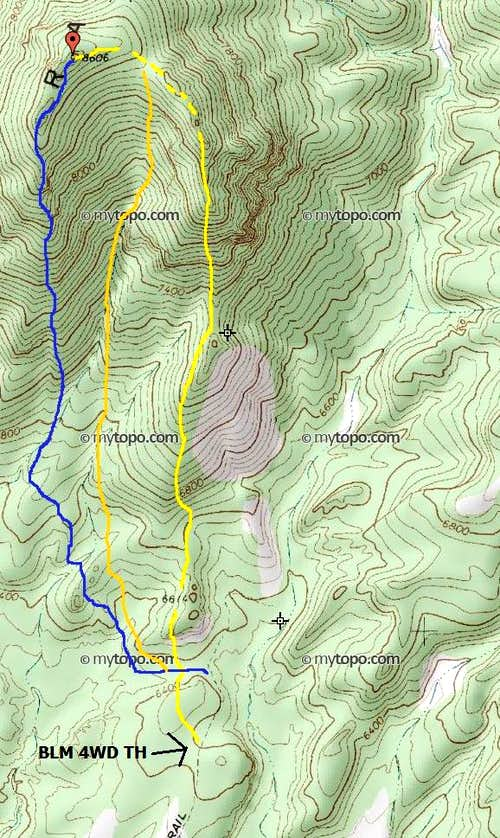 APPROXIMATE routes up Seaman