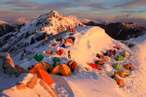 Great snow trek in Japan ( Mt. Tsubakuro )