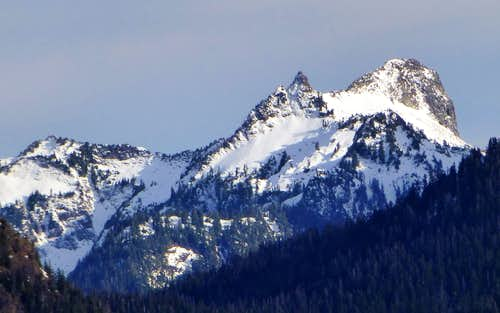 Salish Peak from Olo Mountain