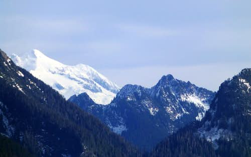 Glacier Peak and Helena Peak from Olo Mountain