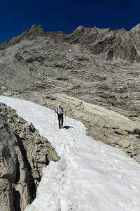 Snow on Tote Alp beneath the Schesaplana summit