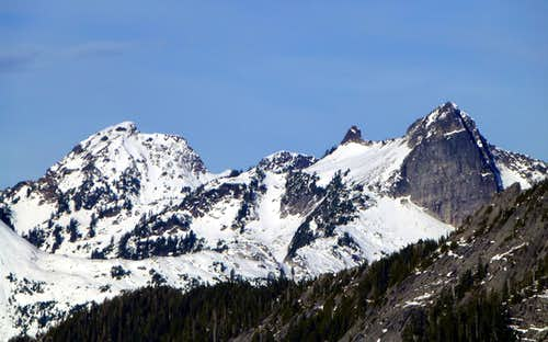Mount Bullon and Salish Peak from Bornite Mountain
