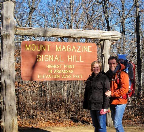 Mount Magazine - A Cold November Hike