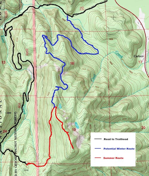 Mount Goodie Map