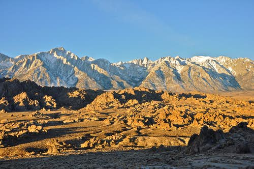 Long Shadows in The Alabama Hills