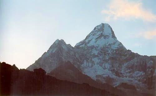 Ama Dablam seen from the...