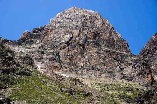 Jägihorn summit Block with climbing routes (10518 ft / 3206 m)