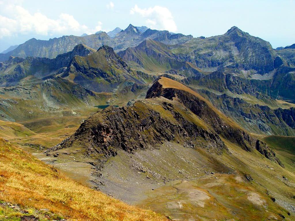 Southeastern Graian Alps from Rosa dei Banchi Northeast Ridge