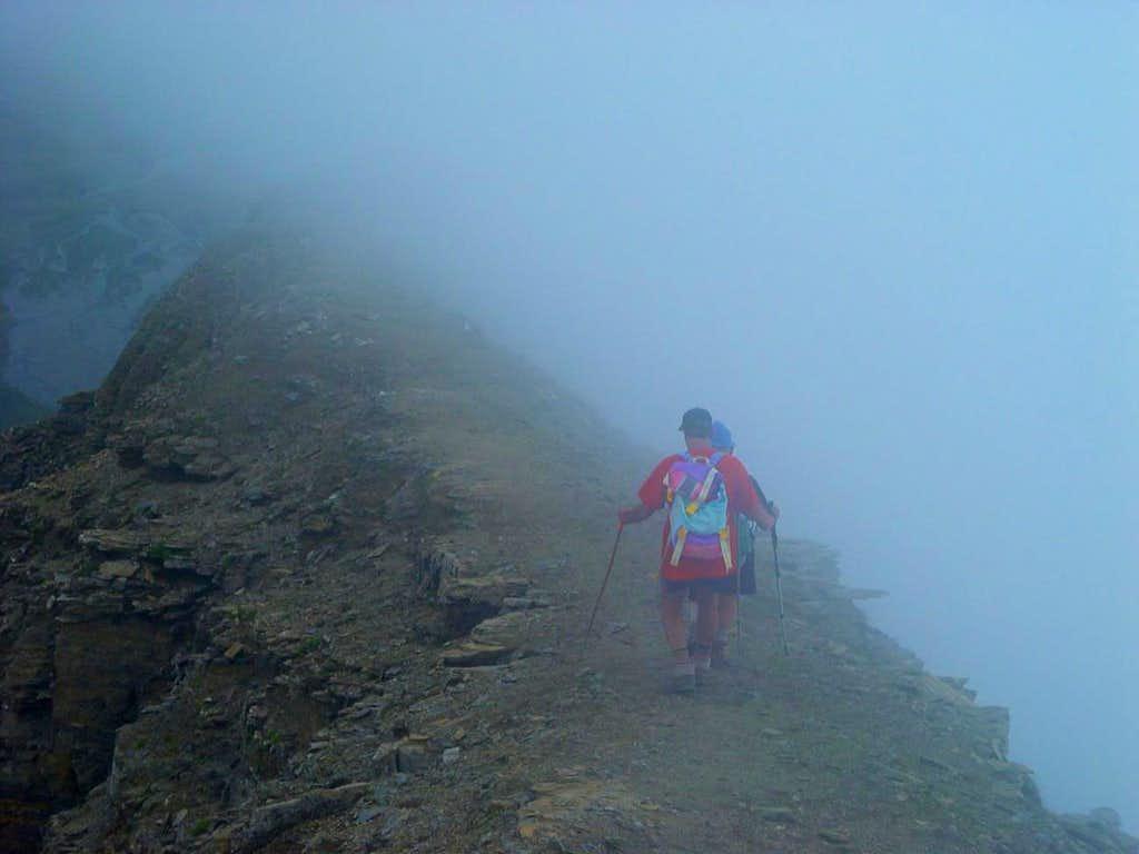 Rosa of Banchi Storm & Fog near the Summit 2003
