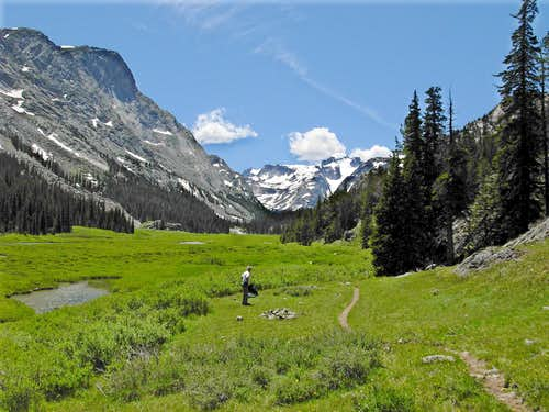 Gannett Peak From Glacier Trail