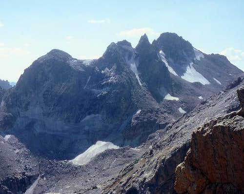 South Teton (right) and its...
