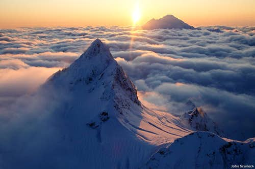 Mount Shuksan Above the Clouds
