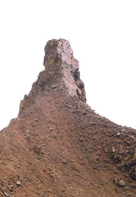 The north basalt pinnacle of...
