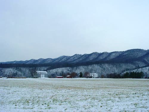 First Mountain Ridge in Winter