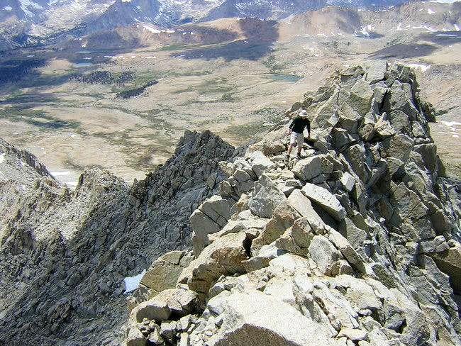The class 2 summit ridge - 3...
