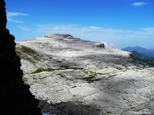 Lastoni di Formin karst tableland seen from Campanile Federa