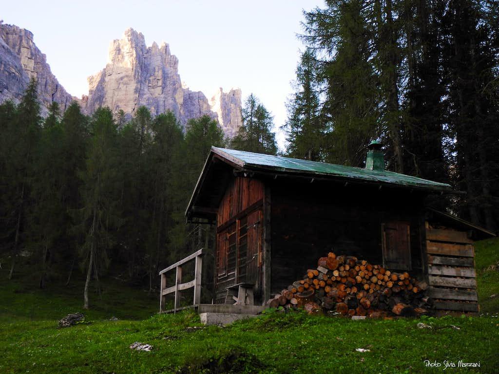 Cason di Formin little alpine shelter
