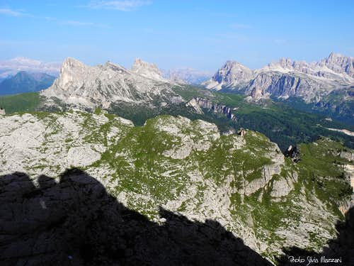 Falzarego Dolomites seen from Campanile Federa