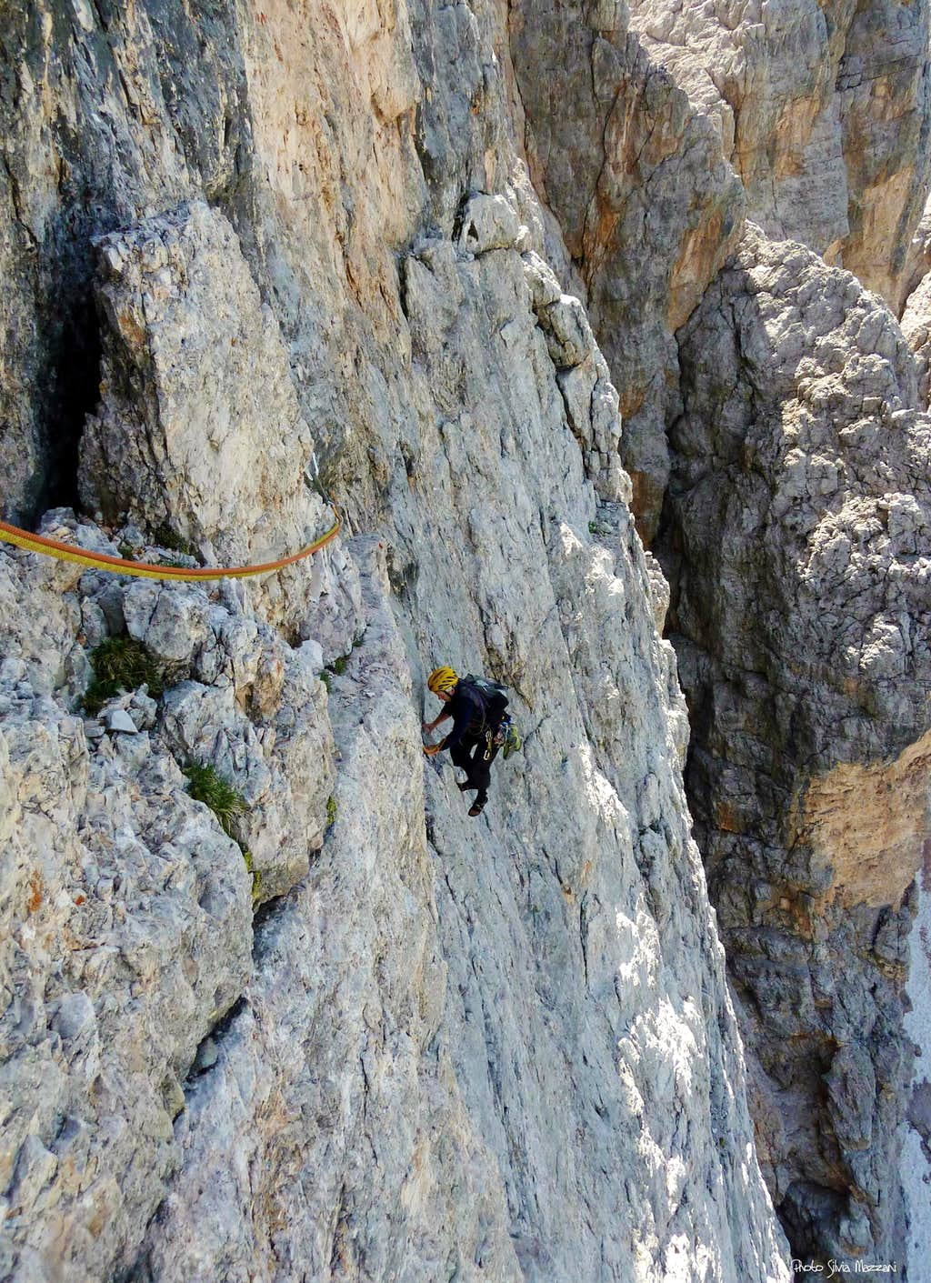 Traverse on Campanile Federa West face